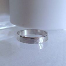 Gorgeous Handmade Sterling Silver Hammer Finish Ring Unique Gift